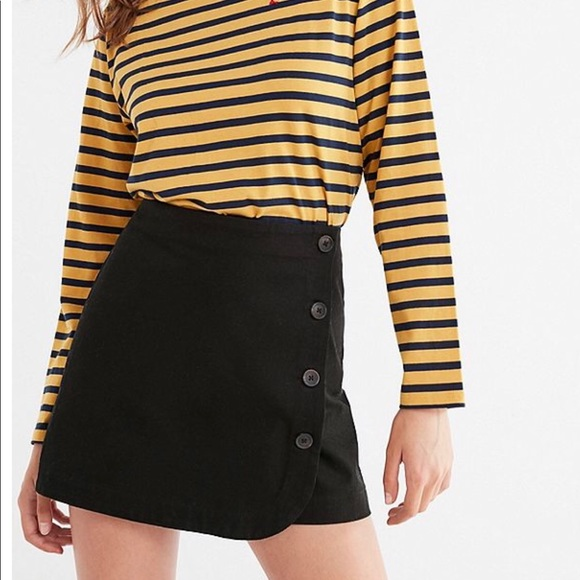 dbe7dad58750 Urban Outfitters Skirts | Uo Shelly Twill Buttondown Mini Skirt ...